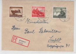 R-Brief Mit Schönen Marken Aus Krefeld 1.6.44 - Germany
