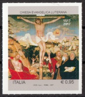 """Italia 2017 Chiesa Evangelica Luterana """"Crocifissione""""  Quadro Dipinto Cranach Vecchio MNH Mistake Errore Leggi Descriz. - Cristianismo"""
