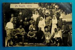 Cpa CARTE PHOTO MILITARIA GUERRE 1914 HOPITAL BLESSES INFIRMIERES CROIX ROUGE AOÛT 1916 CHATEL GUYON 63 - Châtel-Guyon