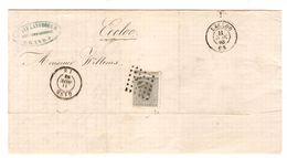 TP 17 S/LAC Van Landeghem Négociant Commissionnaire Gent LOS 141 C.Gand 11/11/1868 V.Eecloo PR4778 - Postmarks - Points