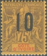 Côte D´Ivoire 1892-1912 - N° 40 (YT) N° 40 (AM) Neuf *. - Côte-d'Ivoire (1892-1944)
