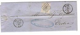 TP 17 S/LAC Facture Van Yseghem & Van Dinter Filature Coton LOS 141 C.Gand 23/4/1868 V.Eecloo C.d'arrivée PR4779 - Postmarks - Points