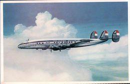 Aviation, Lockheed Super Constellation De KLM (1049) 10x15, Trace De Collage Au Dos - 1946-....: Moderne