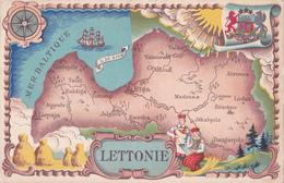 LETTONIE - Carte - 1939/1940 - Latvia