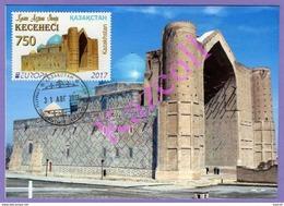Kazakhstan 2017. Europe.  Maxicard. Europa - CEPT.  Castles. Mausoleum Of Khoja Ahmed Yasawi. - Europa-CEPT