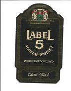 """Etiquette De WHISKY """" LABEL 5 Classic Black """" - Whisky"""