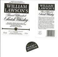 """Etiquette De WHISKY """" WILLIAM LAWSON'S Scotch Whisky """" - Whisky"""