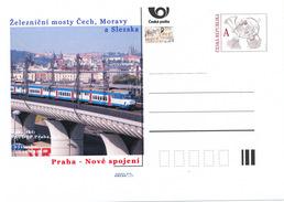 Tschech. Rep. / Ganzsachen (Pre2016/47) Eisenbahnbrücken In Böhmen, Mähren Und Schlesien (2) Prag, Neue Verbindung - Brücken