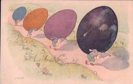 Kreidolf E. Nains Et Pâques, Carte Pro Juventute (883) - Other Illustrators