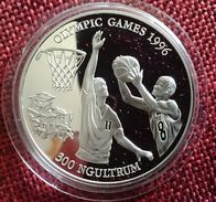 """BHUTAN 300 NGULTRUM 1994 SILVER PROOF """"OLYMPIC GAMES 1996"""" (free Shipping Via Registered Air Mail) - Bhutan"""