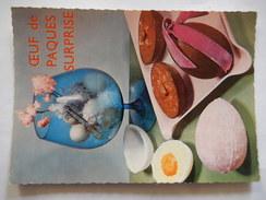 CPSM - OEUF DE PAQUES SURPRISE - RECETTE - No 57 - R6358 - Recettes (cuisine)