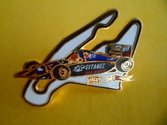 Grand Pins EGF Sport Automobile F1 LIGIER LAMBORGHINI V 12  - Signé JYS SEGALEN - 3 Cm X 2,6 Cm - F1
