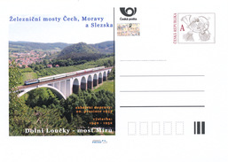 Tschech. Rep. / Ganzsachen (Pre2016/48) Eisenbahnbrücken In Böhmen, Dolni Loucky, Brücke Des Frieden (3) - Brücken