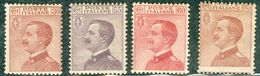 Italy 1917 Effige V.E. III MH* - Lot. RE110-112+127 - 1900-44 Victor Emmanuel III