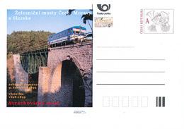 Tschech. Rep. / Ganzsachen (Pre2016/49) Eisenbahnbrücken In Böhmen, Mähren Und Schlesien (4) Strachovice Brücke - Brücken
