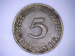 ALLEMAGNE - 5 PFENNIG 1950 J - [ 7] 1949-… : FRG - Fed. Rep. Germany