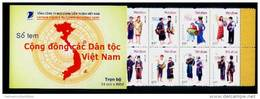 Vietnam Viet Nam Booklet With 54 MNH Stamps 2005 - Type 1 : Vietnamese Community Of Ethnic Groups / Costume / Music - Viêt-Nam