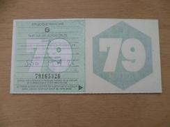 VIGNETTE AUTOMOBILE ENTIERE  1979  GRATIS - Voitures