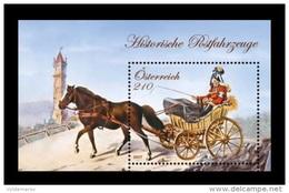 Austria 2017 Mih. 3353 (Bl.96) Rural Postal Vehicle Drawn By A Single Horse MNH ** - 2011-... Ungebraucht