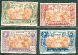 Italy 1923 Sacra Congregazione Propaganda MNH** - Lot. RE131-134 - 1900-44 Victor Emmanuel III