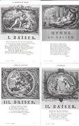 LES BAISERS PAR DORAT LOT DE 20 CPA  REPRODUCTIONS DES EAUX-FORTES D'EISEN - Fairy Tales, Popular Stories & Legends