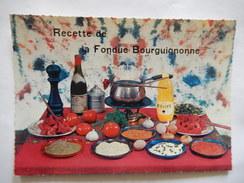 CPSM - RECETTE DE LA FONDUE BOURGUIGNONNE- RECETTE No 9 - R6383 - Recipes (cooking)