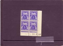 TIMBRE TAXE  N° 70 - 1F GERBES - CHIFRE-TAXE - A De A+B - 4° Tirage Du 9.1.1946 Au 11.1.46 - Dernier Jour - - Taxes