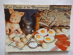 CPSM - LES OEUFS A LA BAYONNAISE - RECETTE No 134  - R6386 - Recipes (cooking)