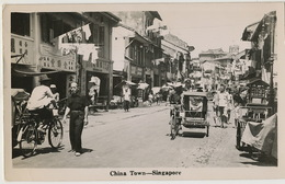 Real Photo Singapore  China Town  P. Used Air Mail 1954 - Singapur