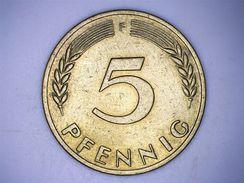 ALLEMAGNE - 5 PFENNIG 1972 F - [ 7] 1949-… : FRG - Fed. Rep. Germany