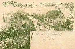 CPA - STRASBOURG-NEUHOF (67) - Carte Lithographique De 1898 Du Restaurant Du ALTENHEIMER HOF - Strasbourg