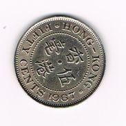 )  HONG KONG  50  CENTS 1967 - Hong Kong