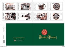 Czech Republic - 2017 - Plzeňský Prazdroj Brewery - Mint Self-adhesive Stamp Personalized Booklet With Hologram - Tsjechië
