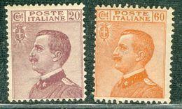 Italy 1926 V.E. Volto A Sinistra MH* - Lot. RE 204-205 - 1900-44 Victor Emmanuel III
