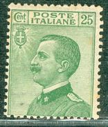 Italy 1927 V.E. Volto A Sinistra 25 C. MNH** - Lot. RE 219 - 1900-44 Victor Emmanuel III