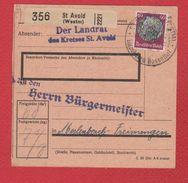 Colis Postal  / De Saint Avold - Parcel Post