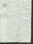 NANTES X NOTRE DAME DE MONTS 1809 ACTE VENTE METAIRIES 2  PAGES : - Manuskripte