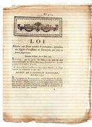 LOI .Relative Aux Biens Meubles & Immeubles,dépendans Des églises Paroissiales.15 Mai 1791.CARON Imp.AMIENS.4 Pp - Documents Historiques
