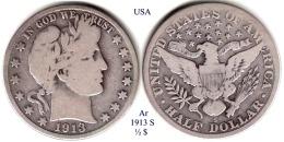 USA-1913 S, 1/2 Dollar - Emissioni Federali