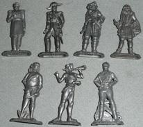 Vintage Rare Lot De Personnages Plastique MAISON DU CAFE, Joinville Marins Surcouf Flint - Figurines
