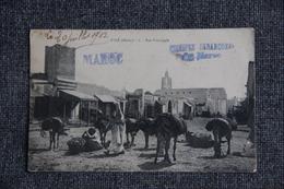 Campagne Du MAROC , 1911 - SALE , Rue Principale - Guerres - Autres
