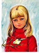 PETITES FILLES DE FRANCE, Enfant Et Canari Sur Une Branche, Ed. Yvon, 1970 Environ - Portraits