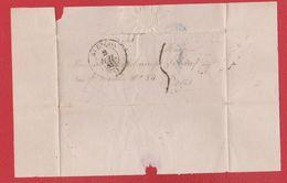 Plis / De Alençon /  Pour Paris   / 2 Juillet 1843 - Marcophilie (Lettres)