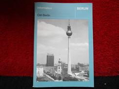 """Ost-Berlin """"Information"""" /éditions De 1984 - Autres"""