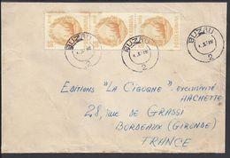ROUMANIE - 1967-68 - Enveloppe De Buzau Pour Bordeaux (FR) - B/TB - - Marcofilia
