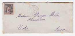France Letter Cover Travelled 1892 Le Havre To Uster B171005 - 1876-1898 Sage (Type II)