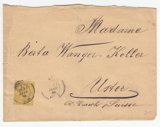 France Letter Cover Travelled 1884 Besancon To Uster B171005 - 1876-1898 Sage (Type II)