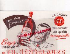 ALGERIE -ORAN- BUVARD VINS TH. SENECLAUZE - Alimentaire