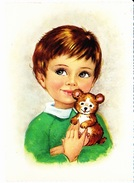 Enfant Et Son Ours En Peluche, Ed. Kruger 1970 Environ - Scènes & Paysages