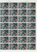 COREE DU NORD - N°  1392 T  - FEUILLE DE 56 EXEMPLAIRES OBLITERE. ANNEE1976- COTE : 42 € - Corea (...-1945)